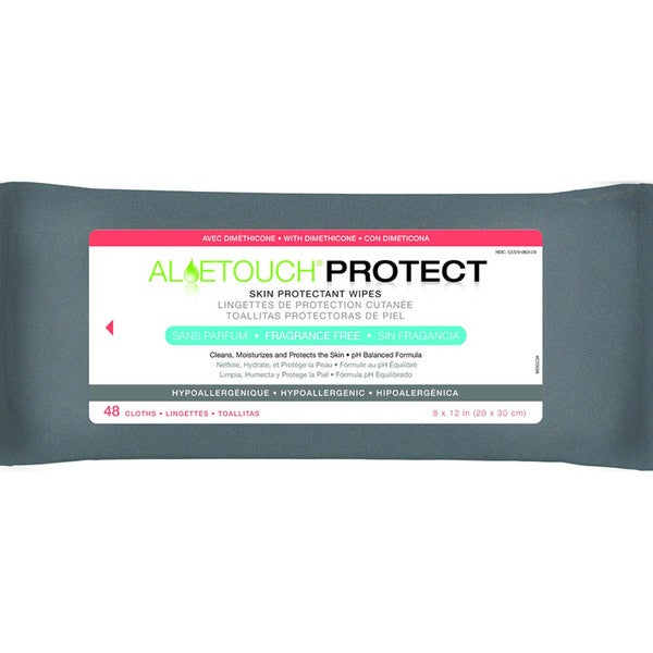 Medline Aloetouch PROTECT Dimethicone Skin Protectant Wipes Fragrance Free (Pack of 12)