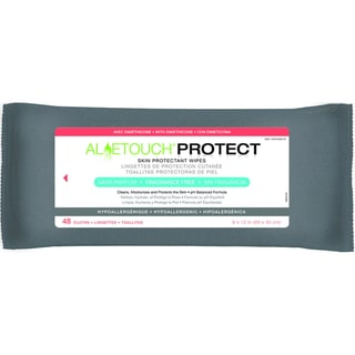 Medline Aloetouch PROTECT Dimethicone Skin Protectant Wipes, Fragrance Free (Pack of 12)
