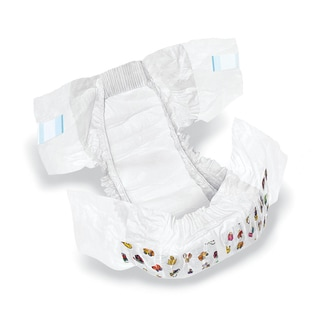 Medline Dry Time Size 2 Disposable Baby Diapers (Case of 224)
