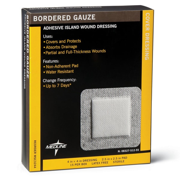 Medline Gauze Border 4-inch x 14 (Pack of 150)