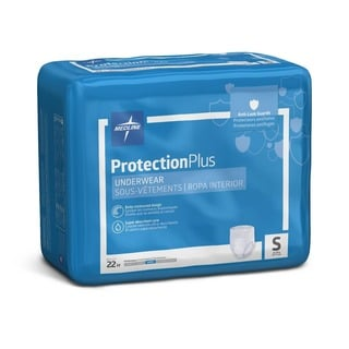 Medline Protective Pull-up Underwear Small 20-inch - 28-inch (Case of 88)