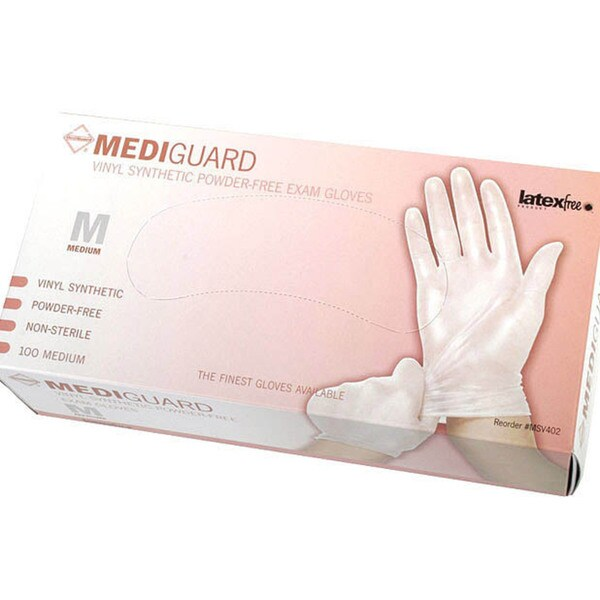 Medline Vinyl Powder-Free Exam Gloves - Medium (Case of 1000)