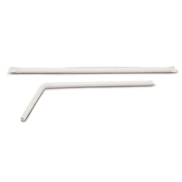Medline Individually Wrapped Flexible Drinking Straws (Case of 1600)