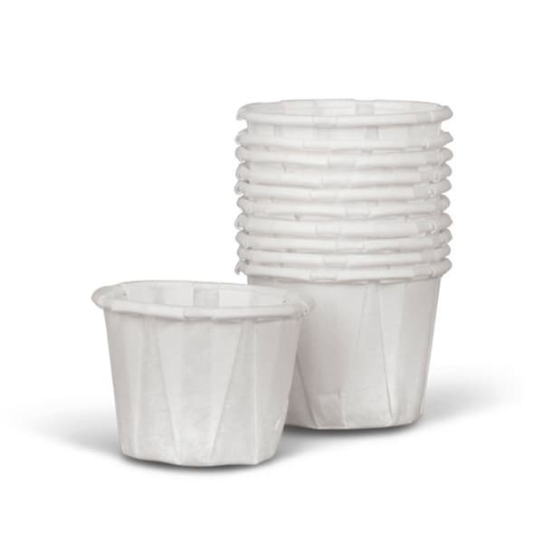Medline Disposable Paper Souffle Cups, .5 oz (Case of 5,000) 2279246