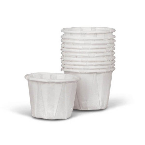Medline Disposable Paper Souffle Cups 1 oz (Case of 5000) 2279248