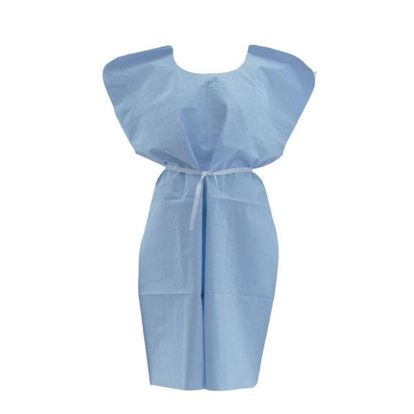 "Medline Xray Gown, Standard, T/P, 30""x42"" Blue (bulk pack of 50)"
