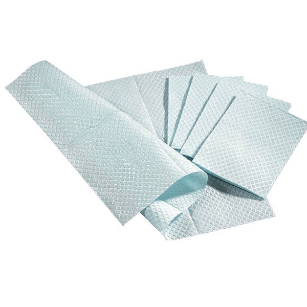 Medline Pro Towel 2-Ply Tissue/Poly White 17 inch x 19 inch (Case of 500)