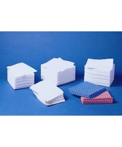 "Medline Rayon Washcloths 12"" X 13""- Blue (Case of 500)"