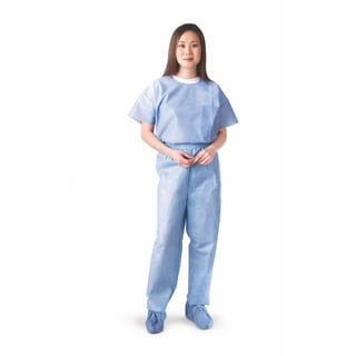 Medline Round-Neck Scrub Shirt SMS Blue XL (Pack of 30)