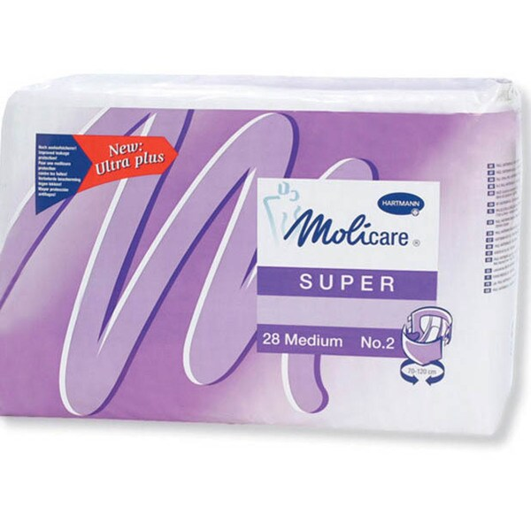 Medline Molicare Super Medium/Large Disposable Brief (Case of 56)