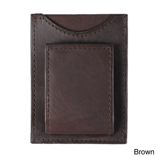 Boston Traveler Magnetic Leather Money Clip