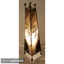 Genuine Leather Safi Table Lamp (Morocco)