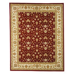 Safavieh Lyndhurst Collection Floral Burgundy/ Ivory Rug (5'3 x 7'6)