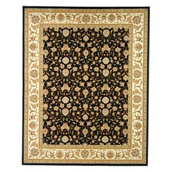 "Safavieh Lyndhurst Collection Traditional Polypropylene Black/Ivory Rug (5'3"" x 7'6"")"