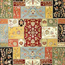 Lyndhurst Collection Traditional Multicolor/ Ivory Rug (8' x 11')