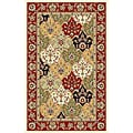 Lyndhurst Collection Traditional Multicolor/Red Rug (3'3