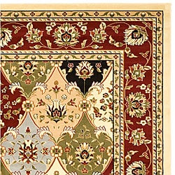 Lyndhurst Collection Multicolor/ Red Rug (5'3 x 7'6 )