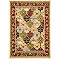 Safavieh Lyndhurst Collection Multicolor/ Red Rug (5'3 x 7'6 )