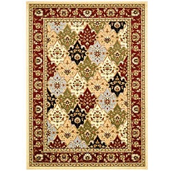 Lyndhurst Collection Traditional Multicolor/Red Rug (8' x 11')