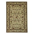 Lyndhurst Collection Traditional Ivory/ Ivory Rug (3'3 x 5'3)