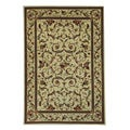 Lyndhurst Collection Traditional Ivory/ Ivory Rug (5'3 x 7'6)