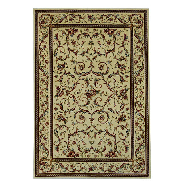 Safavieh Lyndhurst Collection Traditional Ivory/ Ivory Rug (8' x 11')