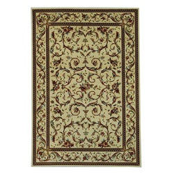 Lyndhurst Collection Traditional Ivory/ Ivory Rug (8' x 11')