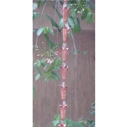 Lily Copper 8-foot Rain Chain