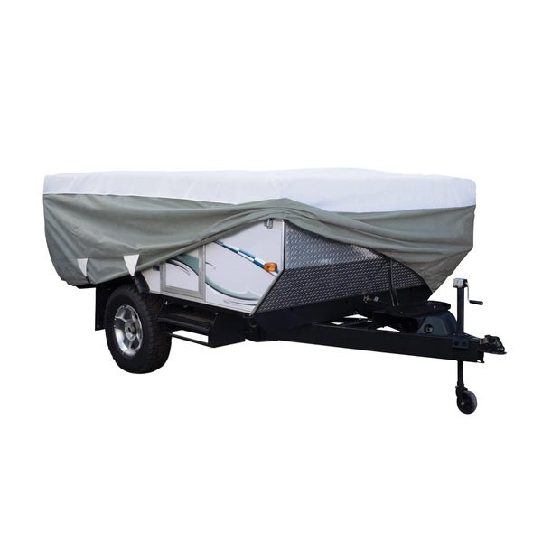 Classic Accessories OverDrive PolyPRO 3 Deluxe Pop-Up Camper Trailer Cover, Fits 12' - 14' Trailers 32291180