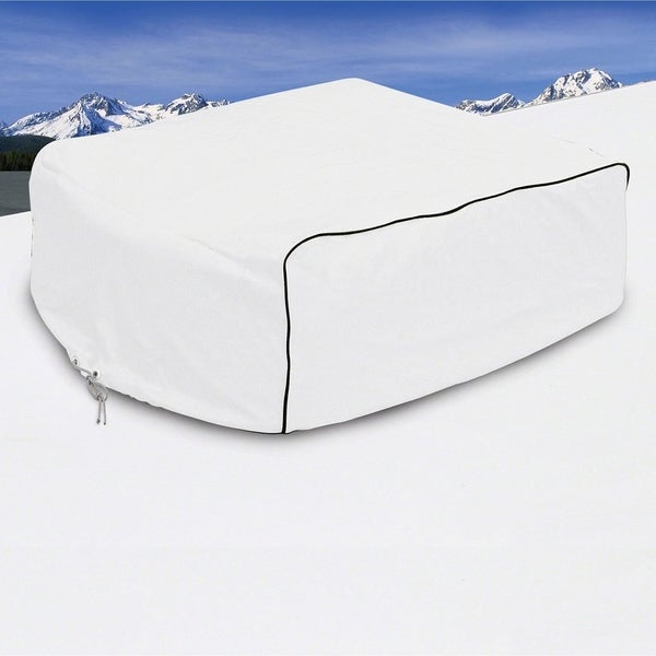 Classic Accessories 77420 RV Air Conditioner Cover, Snow White 32291242