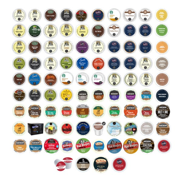 Van Houtte, Emerils, Green Mountain, Starbucks, Barista Primahouse & Other Branded Coffees K-Cup for Keurig Brewers, 95 Count 32292080
