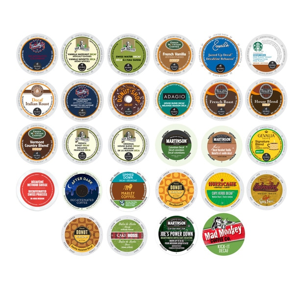 Timothys, Van Houtte, Green Mountain, Emerils, Starbucks, Mad Monkey & Other Decaf Coffees for Keurig K-Cup Brewers, 28 Count 32292103
