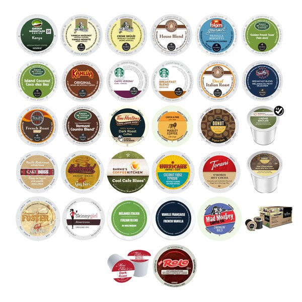 Chocolate Flavored, Variety Pack of Assorted Coffees and Beverages, K-Cup and RealCup Portion Pack for Keurig Brewers, 39 Count 32292171