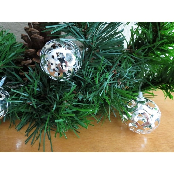 Multi-purpose LED string light pierced crescent moon design in silver 18 globes (2 pack) 32292188