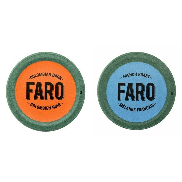Faro Colombian Dark & French Roast Coffee, Dark Roast, Compostable Single Serve Cup for Keurig Brewers, 24 Count 32293340