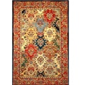 Hand-tufted Rajakiya Multicolor Wool Rug (5' x 8')