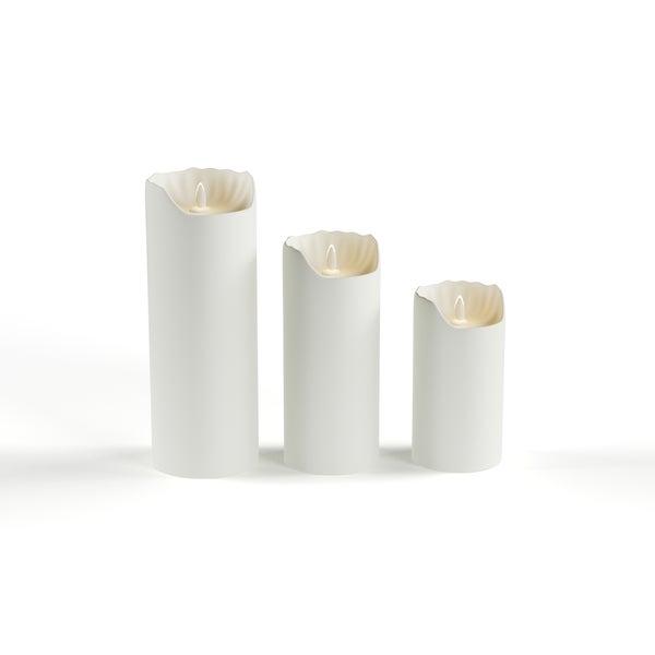 Porch & Den Brooklyn Heights Montague Smooth Ivory Flameless Pillar Candle 10651947