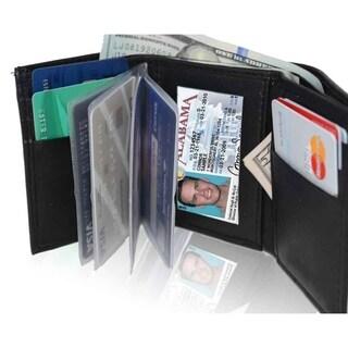 AFONiE RFID Blocking Genuine Leather Tri-fold Wallet