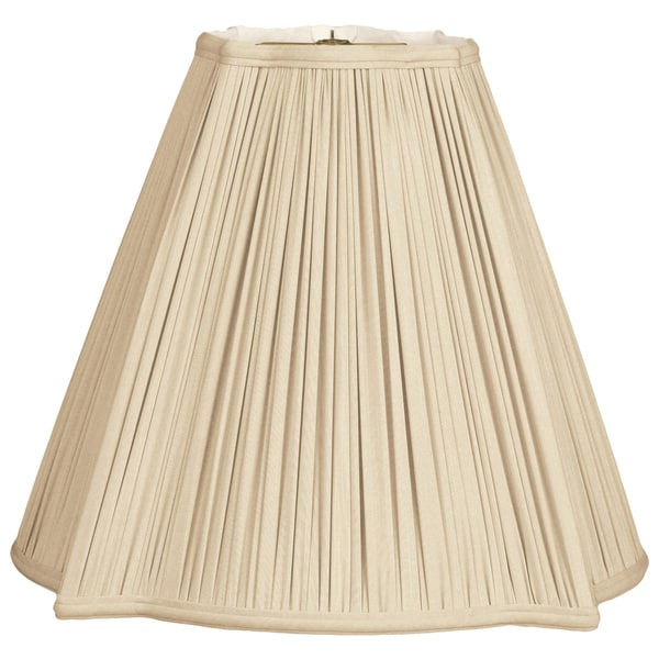 Royal Designs Fancy Square Gather Pleat Basic Lamp Shade, Beige, 5.75 x 14 x 11.75 32368033
