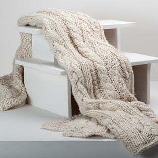 Berkshire Blanket Oversized Chunky Hand-knit Throw