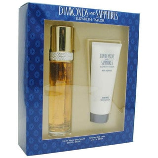 Diamonds and Saphires 2-piece Gift Set for Women