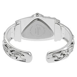 Geneva Women's Platinum Triangular Face Fashion Watch