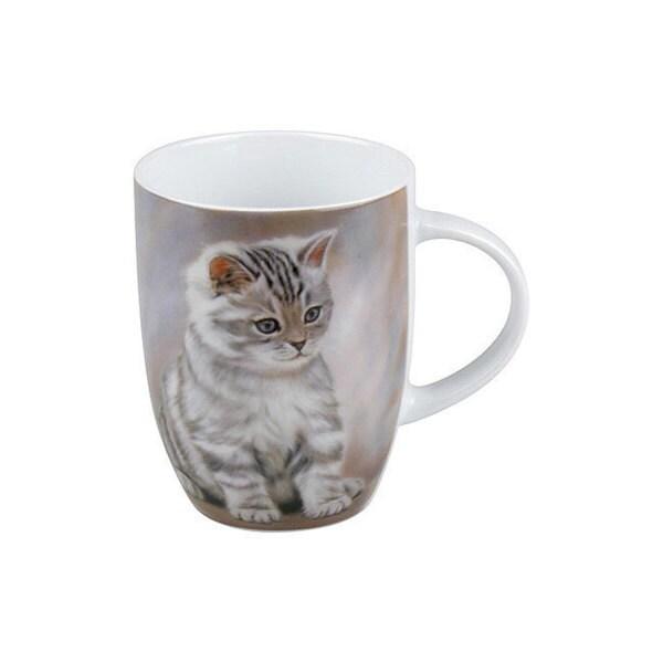 Konitz Set of 4 Tiger Striped Kitten Mugs 32390919