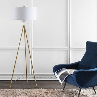 "Safavieh Lighting 66-inch Enrica Tripod LED Floor Lamp - 25"" x 25"" x 66"""