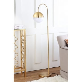 "Safavieh Lighting 56-inch Jonas Brass LED Floor Lamp - 15.25"" x 9.875"" x 55.5"""