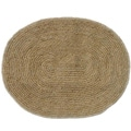 Hand-woven Braided Bleached Natural Jute Rug (6' 6