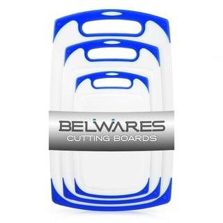 Belwares Cutting Board w/ Non-Slip Feet & Deep Drip Groove