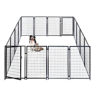ALEKO Dog Kennel Pet Playpen Cage Fence 10X10X4 Feet
