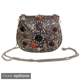 Agate Inlaid Handbag (Case of 2) (India)