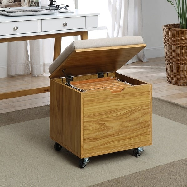 Pearce Natural Wood Small Office File Bench 32431378